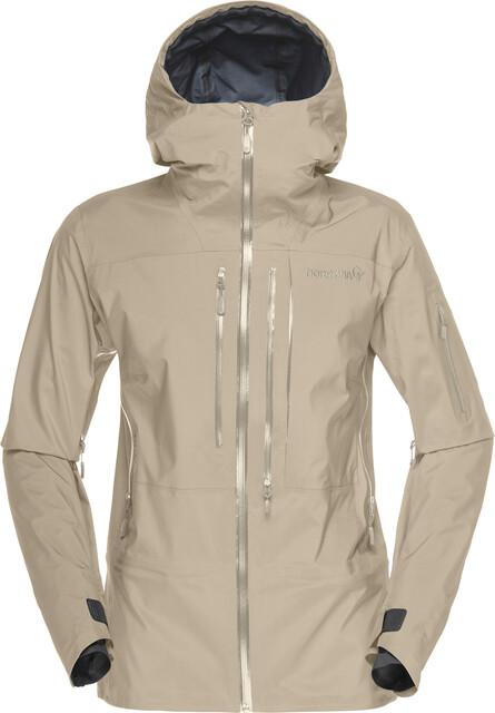 norrona falketind gore tex waterproof jacket l ocean swell